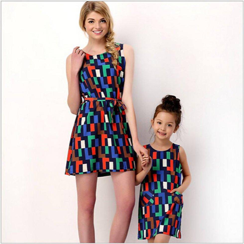 Vestidos para madres e hijas gorditas