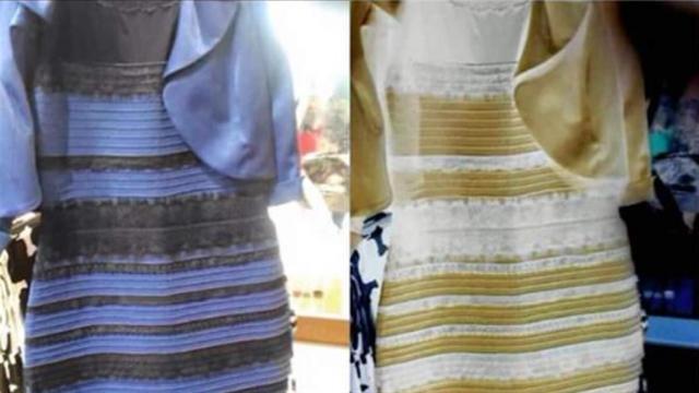 Vestido blanco y negro o blanco y dorado