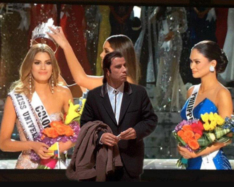 Ariadna Gutiérrez fue proclamada Miss Universo, pero el presentador del concurso corrigió el veredicto a favor de Miss Filipinas.